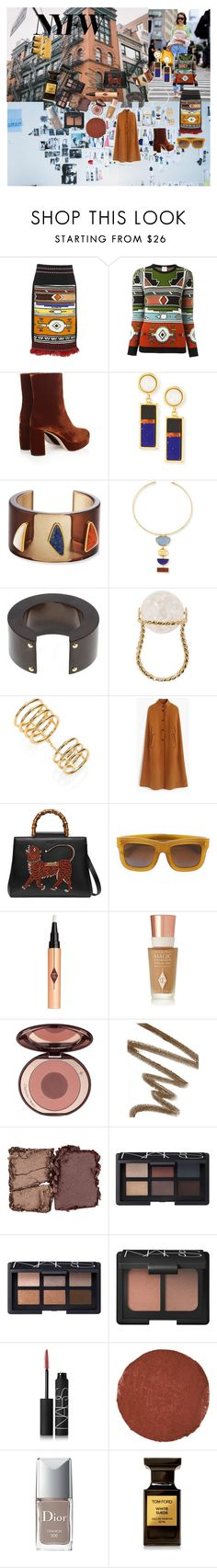 """""""Runway to Reality"""" by atho-12345 on Polyvore featuring Forevermark, Stella Jean, Miu Miu, Lizzie Fortunato, Aurélie Bidermann, Elizabeth and James, J.Crew, Gucci, Grey Ant and Charlotte Tilbury"""