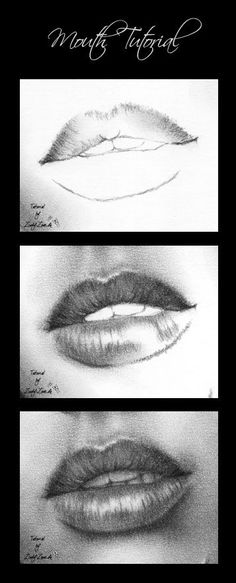 Mouth tutorial - charcoal by Zindy.deviantart.com on @deviantART