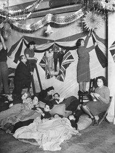 Decorating air raid shelter