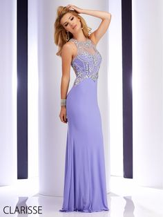 Clarisse 2016 prom dress 2796. Elegant and sparkly unique long prom dress with a fitted tight silhouette. This gorgeous dress is available in blue and black and in plus sizes! http://clarisse.us/locator/index.php