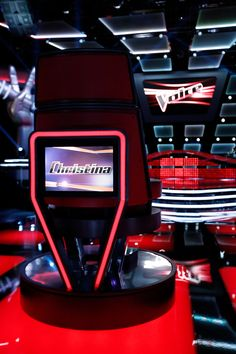A Big Red Chair Fit For Queen Christina Aguilera. Donu0027t Miss Xtinau0027s Return  To The Voice On Monday, February 23 On NBC!