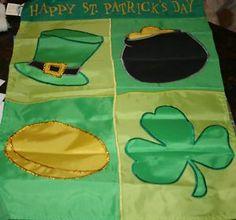 applique St. Patrick's Icons Garden Flag