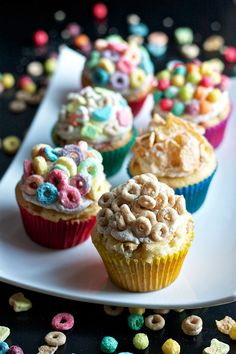 Breakfast Cereal Cupcakes - Follow #SightApp and save an entire article by 1 screenshot (Check How: https://itunes.apple.com/us/app/sight-save-articles-news-recipes/id886107929?mt=8