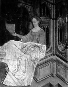 Fresko14 - Fresko, Freskomalerei – RDK Labor. RDK X, 736, Abb. 14. F. mit Sinopie. Foligno, 1424.