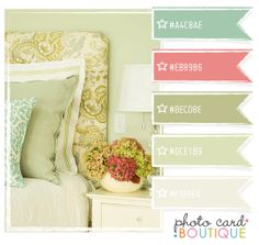 Cool Colors Palette · 07.31.2011  beautiful bedroom colors