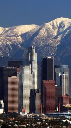 Los Angeles, California.  A complete cheat, as Im from Los Angeles, but this really is a beautiful picture of our city.  One they never show.  Those are the San Gabriel Mountains in the background.