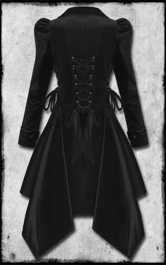 Reminds me of Ma's seal coat I wore !!   Victorian Steampunk Velvet Coat #gothic #fashion by concepcion
