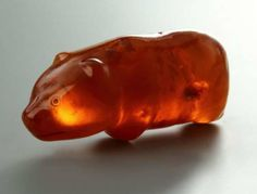 Baltic amber bear amulet. Approx. 3500 years old.