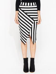 Bold Stripe Angle Skirt from @ portmans @westfieldnz #backtowork