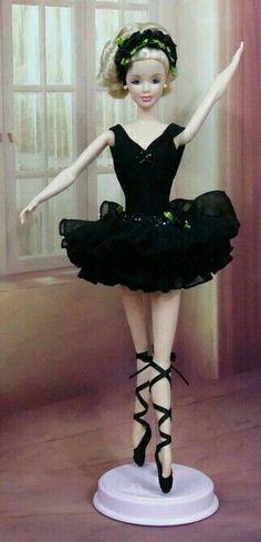 Ballerina BArbie Doll in Black