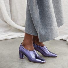 d1def9211b miista-Scarlett Purple Metallic Mid-Heels- Charlote, Natural Leather, Wide  Feet. Miista USA