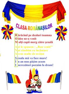 "Lumea lui Scolarel...: Sloganul clasei: ""Românașii"" 1 Decembrie, Diy And Crafts, Crafts For Kids, Teacher Supplies, Class Decoration, Worksheets For Kids, Krystal, Back To School, Preschool"