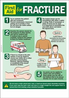 First Aid For Fracture. If someone next to you has a fracture, DON'T PANIC! There are some things that you can do.   For more tips on treating fractures, read the following article and learn how to use a SAM Splint for stabilizing broken bones or sprained joints and keep bad injuries from getting worse: http://insidefirstaid.com/personal/first-aid-kit/splinting-bone-fractures-with-a-sam-splint #first #aid #tips #medical #injuries #fracture #bones