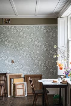 Hegemone By Farrow Ball Grey Wallpaper Direct