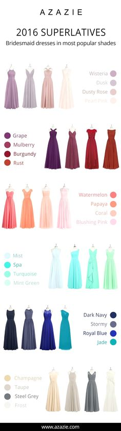 Bridesmaid dresses. Decide on a most suitable bridesmaid dress for your wedding. You need to consider the dresses which would flatter your bridesmaids, as well, match your wedding theme.