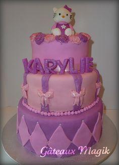hello kitty pink cake