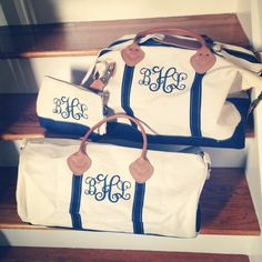 Travel Monogram Duffel Set
