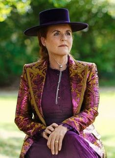Jul 2021 in Emily London | Royal Hats Town And Country Magazine, Sarah Ferguson, Duchess Of York, Boater Hat, Silk Organza, White Silk, Royal Fashion, Cowboy Hats, London