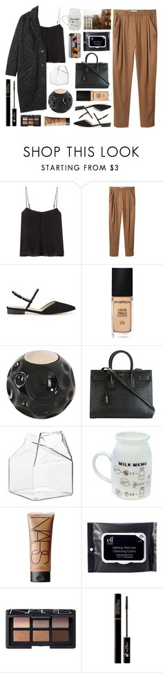 """""""Untitled #2858"""" by tacoxcat ❤ liked on Polyvore featuring T By Alexander Wang, 3.1 Phillip Lim, Smashbox, Maison Bereto, Yves Saint Laurent, CB2, NARS Cosmetics, XOXO, e.l.f. and Lancôme"""