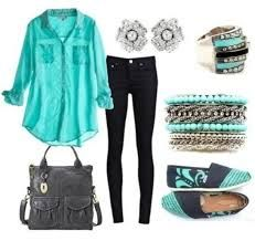Turquoise and black? definitely makes a statement really love the layered bracelet