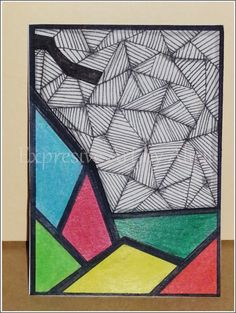 TRADED Serie: ZIA - Zentangle (c) Inspiration No. 03/2015 Técnica: Rotuladores y Lápices de Color