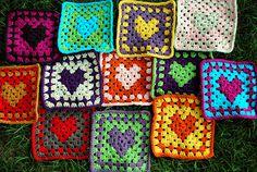 Granny Heart Squares