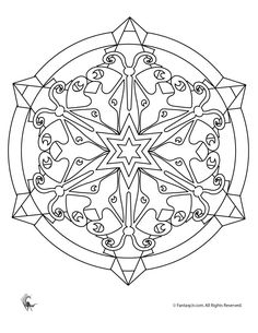 Summer Mandala Coloring Pages Butterfly Kaleidoscope Coloring Page – Fantasy Jr.