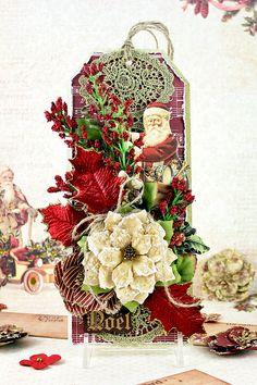 Card: Victorian Christmas Tag