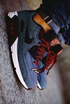 Nike // Blue Denim, Burgundy Laces, White Soles