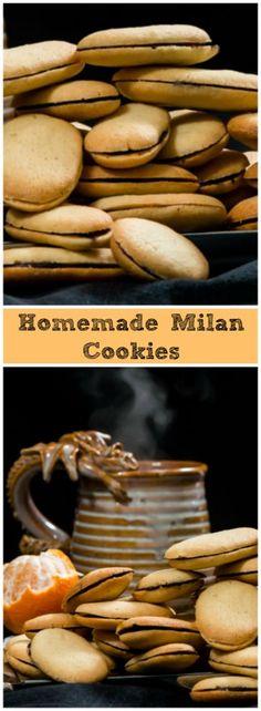 #cookies #darkchocolate #orange #vanillawafer #milan #homemade #sandwichcookies