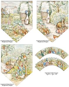 Beatrix Potter-Peter Rabbit Cupcake Wrapper by FairyliciousDesigns