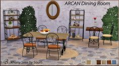 Sims 4 CC's - The Best: Arcan Dining Set by Souris