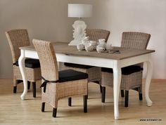 Wohnzimmermöbel Set in Weiß (7-teilig) - Gemütliche Landhausmöbel ...