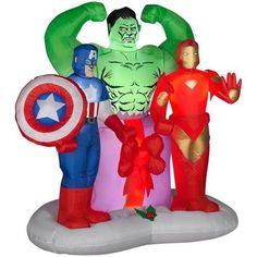 Airblown Marvel 6ft Avengers Scene Includes Captain American Iron Man & The Hulk http://order.sale/TQFc (via Amazon)