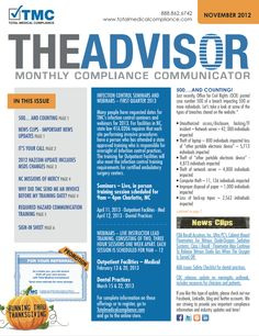 The TMC Advisor monthly newsletter