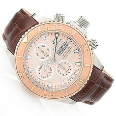 Invicta Reserve 47mm Pro Diver Swiss Made SW500 Automatic Chronograph Leather Strap Watch