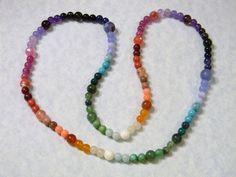 Multicolor Rainbow Gemstone Necklace