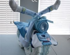 Motorcycle Diaper Cake Baby Shower Gift Little Man Baby Boy