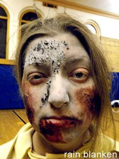 Charred face zombie makeup tutorial from costume expert, Rain Blanken. - Real and Horrifying Zombie Makeup Tricks Zombie Makeup Tutorials, Makeup Tips, Zombie Pics, Horror Makeup, Health And Fitness Articles, Viral Trend, Costume Makeup, Photo Tutorial, Mascara