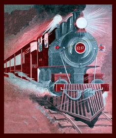 Steam Locomotive Train Refrigerator Magnet via LabelStone of Etsy.