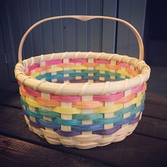 Rainbow Easter Basket - Joanna's Collections