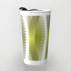 Greeny Travel Mug by weivy Presents For Friends, Green Nature, Good Cause, Beach Towel, Travel Mug, Ivy, Coffee Mugs, Stripes, Ceramics