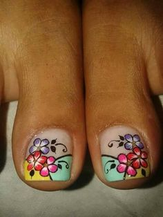 Pedicure Designs, Toe Nail Designs, Nails Design, Cute Pedicures, Manicure And Pedicure, French Pedicure, New Nail Art, Fabulous Nails, Toe Nails