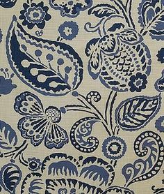Blue and White Monday Budget Friendly Fabric from The Glam Pad. Pindler and Pindler Batik Paisley Fabric, Paisley Pattern, Paisley Print, Textiles, Textile Patterns, Print Patterns, Fun Patterns, Floral Patterns, Molduras Vintage