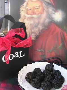 Red Couch Recipes: December 2011  -  Coal Balls for Christmas Recipe