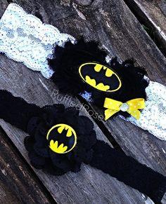 Custom Wedding Batman Garter Set
