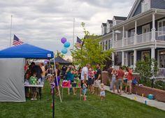 Parkwood Homes Block Party on The Mews, Stapleton, Denver, Colorado.