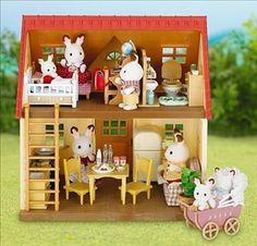 Le cosy cottage avec son set ameublement pour les #SylvanianFamilies. Par #Educationcreative