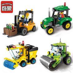 Kota seri forklift truk blok bangunan enlighten anak xmas hadiah terbaik kota blok konstruksi mainan untuk anak-anak hadiah 1103