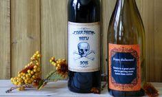 Halloween Wine Labels - Autumn Gift Ideas